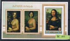Paintings, Arts; Ajman Bl. 192 B; da Vinci,  imperf. MNH**