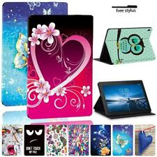 For Lenovo Tab E10 / Tab M10 Printing PU Leather Stand Tablet Cover Case