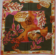 -Superbe Foulard GUY LAROCHE  100% soie  TBEG  vintage scarf  A saisir