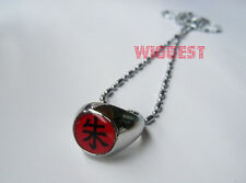 "Naruto Akatsuki Itachi Cosplay Ring Red ""Shu"" Pendant Necklace Gift"