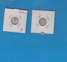 ++Gertbrolen 50 Centimes argent  type Semeuse 1917   Exemplaire numéro 5