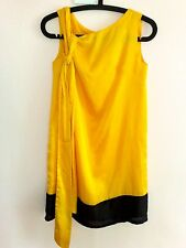 ♥ NEW Cultivation Elle Tailored Yellow Sleeveless Dress with Belt S
