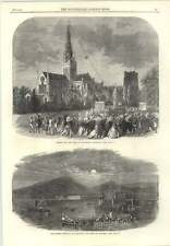 1866 Chichester Cathedral Capping New Spire Feast Lanterns Llandudno