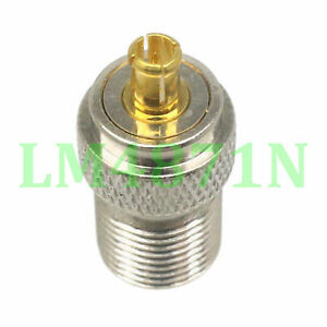 1pce Adapter 75 ohm F TV female jack to MCX male plug RF connector straight F/M