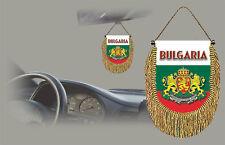 BULGARIA REAR VIEW MIRROR WORLD FLAG CAR BANNER PENNANT