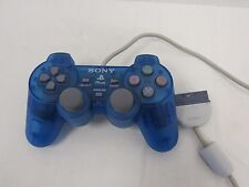 Official Sony Clear Blue PS1 PS2 PSone Dual Shock Controller SCPH-110 - NAB S2