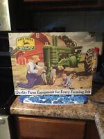 "John Deere metal sign 16x13 ""Quality farm equipment for every farming job"""