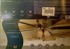 "Harbor Breeze Centreville 52"" Antique Brass Finish Ceiling Fan with Light Kit"