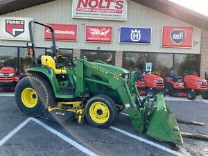 "2000 JOHN DEERE 4200 COMPACT TRACTOR 4X4 26 HP HYDROSTATIC 60"" MOWER FORKS 575HR"