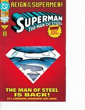 Superman: Man of Steel #22 Die Cut Cover! FREE SHIPPING AVAILABLE!