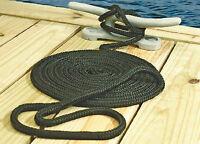 "Double Braid Nylon Dock Line Black 3/8"" X 25' Seachoice 40321"