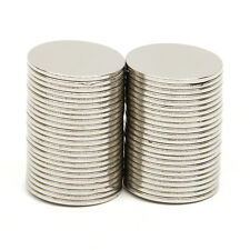 50pcs N52 Grade 15mm x 1mm Super Strong Round Disc Neodymium Magnet Rare Earth