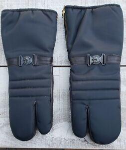 Vintage Arctic Cat Black & Purple Leather Mittens Gloves Size Men's XL X LARGE
