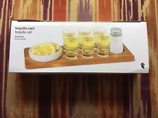 Tequila Set And Acacia Wood Board