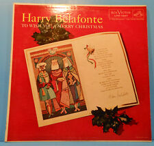 HARRY BELAFONTE TO WISH YOU A MERRY CHRISTMAS LP 1958 MONO GREAT COND! VG+/VG+!!