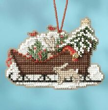Mill Hill Woodland Sleigh Ride Charmed Bead Ornament Cross Stitch Kit 2017