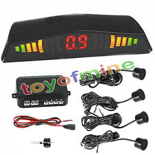 Hot Sale 4 Parking Sensors LED Display Car Reverse Backup Radar Kit Black 5