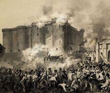 Révolution Paris Prise de la Bastille 14 juillet 1789 - Lithographie Originale