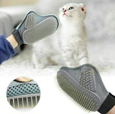 HEAVY DUTY PET GROOMING GLOVE HAIR REMOVAL MITTS GENTLE BRUSH FOR CAT DOG
