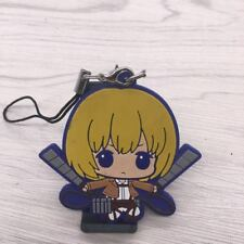 Hot Anime Attack on Titan rubber Keychain Key Ring Race straps Cosplay V1
