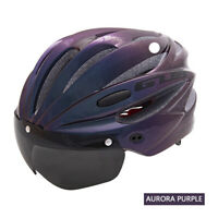 Rennrad MTB Fahrradhelm Magnetbrille & 3 Linse Visier Fahrrad Helm Radhelm