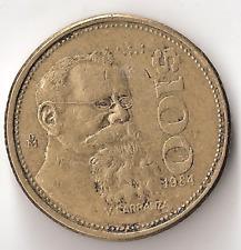 1984 Mexico 100 Pesos Coin Mexican