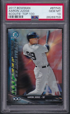 2017 Bowman Scouts Top 100 Refractor AARON JUDGE Yankees Rookie PSA 10 Gem Mint