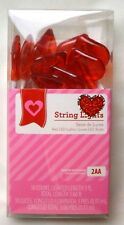 3-ft. Strand of Red Heart-Shaped LED Light String Valentines Day Home Decor
