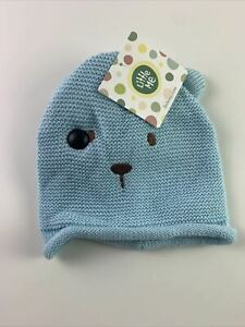 NWT Little Me Toddler Teddy Bear Hat And Mittens Set Blue Size 12-24M