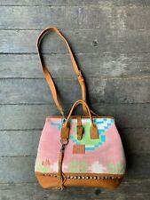 Will Leather Goods Dhurrie Rug Mason Bag Purse NWT