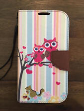 For Samsung Galaxy Note 2 II Pu Leather Flip Stand Card Wallet Case Cover Owls
