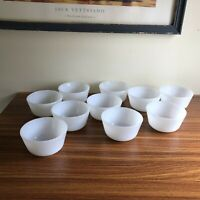 Vintage lot of 10 Custard Cups unmarked white