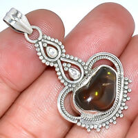Mexican Fire Agate 925 Sterling Silver Pendant Jewelry AP283