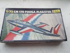 VINTAGE HELLER  KIT 220   1/72   FOUGA CM170 MAGISTER  (BLACK BOX ISSUE)