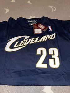 Mitchell & Ness Lebron James Cleveland Cavaliers HWC Blue T-Shirt XXL NWT