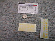 Walthers  decals HO Box car 33-07 Jersey Central yellow  M67