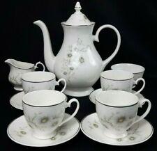 More details for royal kensington bone china 11 piece floral coffee set with pot - vintage vgc