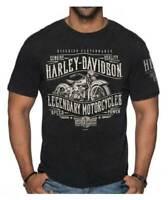 Harley-Davidson Men's Luminary Short Sleeve Poly-Blend T-Shirt, Graphite Heather