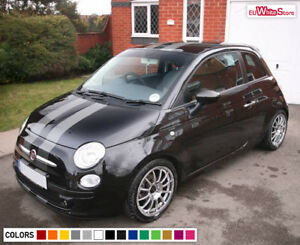 Decal Sticker Full Stripe Kit for Fiat 500 Abarth Floor Mats Racing Keychain Fin