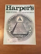 Harper's August 1970 Money in America: The End of the Dream