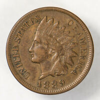 1889 1c INDIAN HEAD SMALL CENT, NICE HIGH-GRADE COIN LOT#N629