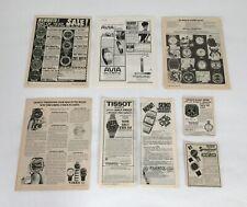 Werbung Magazin Anzeigen Advert Ad Tissot Seiko Chronosport Timex Vintage 70er