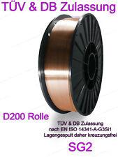 SG2 Schweißdraht 0,8mm 5kg Schutzgasschweißdraht CO2 Draht G3Si MIG/MAG D200