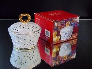 Butter Dish Limoge Porcelain Godinger Museum Re Creations  Round Gold Trimmed