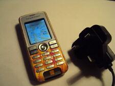BASIC pensionato anziani facile a buon mercato Sony Ericsson K510I su ARANCIO + CARICABATTERIE