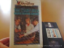 The Computer Wore Tennis Shoes Vintage Disney Vhs Collectible White Clam Shell