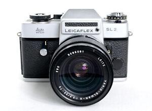 Leicaflex SL 2 mit Vario Elmar R 1:3,5 35-70 mm. Bauj. 1975. Nr.1424582.