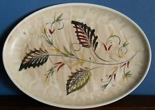 "A vintage hand painted Denby 12.5 x 9"" oval stoneware platter [factory second]"