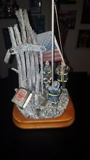 """2001Vanmark Red Hats of Courage """"Image Of Hope"""" Music Box from Sf Music Box Co"""