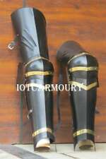 Medieval Blackend Steel Knight Full Leg Armor Costume Combat Armour Fully Wearab